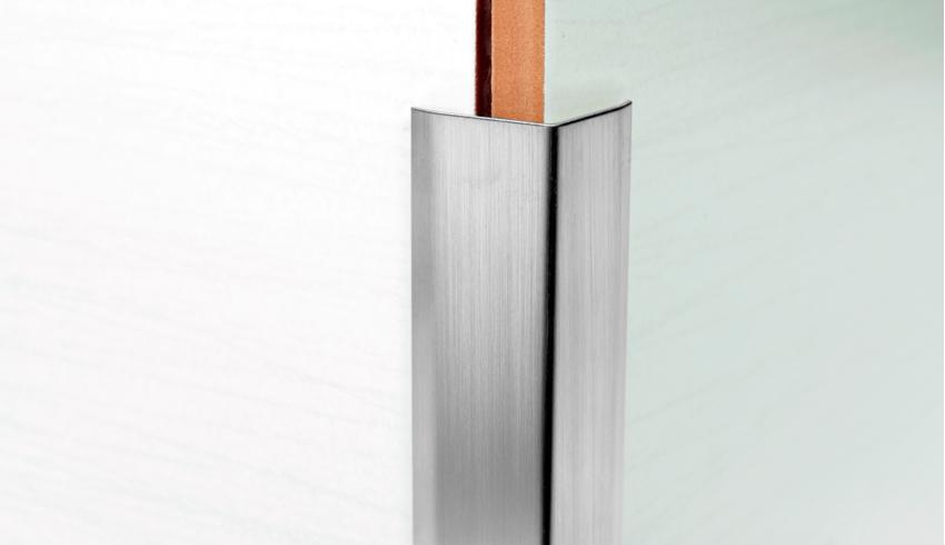 Sarokélvédő rozsdamentes acél profil